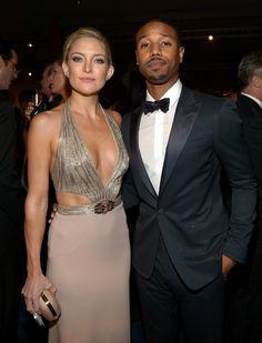 Kate Hudson and Michael B. Jordan, wearing Gucci, attend the LACMA 2013 Art + Film Gala