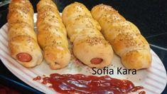 HOT DOG ΦΟΥΡΝΟΥ Μια συνταγή για πολλές χρήσεις! Hot Dog Buns, Hot Dogs, Spring Rolls, Greek Recipes, Food And Drink, Appetizers, Bread, Snacks, Cooking