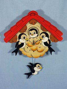 Bartolucci pendulum Swallows Clock
