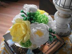 Crape Paper Flower Arrangement 1 - DIY