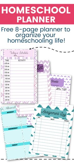 A free 8-page homeschooler planner to help with homeschool organization via @clarkscondensed
