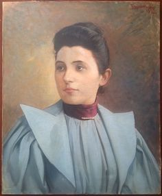 Woman portrait, twentieth time.  Portrait in bust of a young woman in a beautiful dress.  Oil on canvas, signed and dated top right (to decipher).  In good condition (see photos).  Format: 12 Figure (12F) standard that is to say 61 cm x 50 cm (24.0 in x 19.7 in).