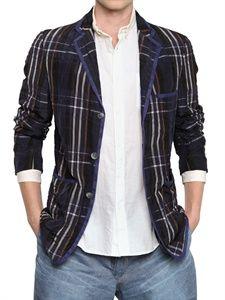 08 SIRCUS - MADRAS CHECK LIGHTWEIGHT CUPRO JACKET Mens Attire, Well Dressed, Leather Jacket, Blazer, Check, Jackets, Dresses, Fashion, Studded Leather Jacket