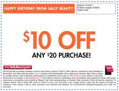 Sally's Beauty Supply: November Coupon