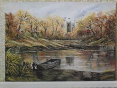 Autumn on the Severn Hanging Paintings, Artwork Display, Acrylic Art, Autumn, Kit, Landscape, Canvas, Gallery, Tela
