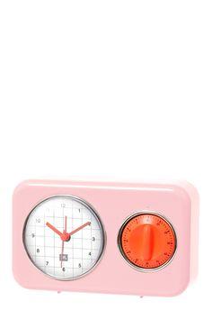 Horloge et minuteur de cuisine Rose Present Time sur MonShowroom.com