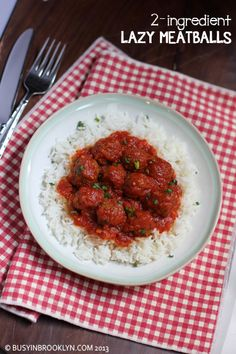 DELISH! Busy in Brooklyn » Blog Archive » 2-Ingredient Lazy Meatballs