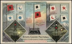 Ayer's Cherry Pectoral cures colds & coughs caused by changes in the weather. (front).