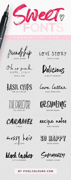 Super sweet fonts to exploit your creativity! - Fonts - Ideas of Fonts - Super sweet fonts to exploit your creativity! Tattoo Fonts Alphabet, Handwriting Alphabet, Hand Lettering Fonts, Calligraphy Handwriting, Typography Fonts, Lettering Tutorial, Font Tattoo, Letter Fonts, Calligraphy Fonts Free