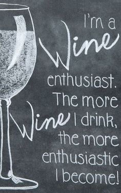 Wine Enthusiast Chalkboard Sign