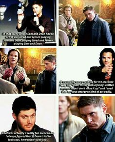 Dean probably wouldn't look cool if he was trying.