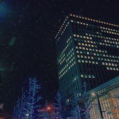 Instagram【yur_ilium】さんの写真をピンしています。 《冬の札幌出張。 タクシーの運転手さんの観光案内を聞きながら、雪の景色を**.*** みんなで楽しい夜だったーヾ(*´∀`*)ノ * * * * * *》