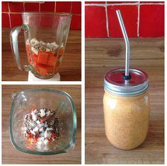 Licuado matutino: papaya-coco-semilla de girasol-chia