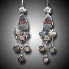 CHANDELIER Earrings LONG Sterling Silver Earrings by xaosart, $249.00