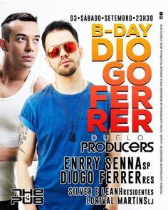 #VEJA The Pub: B-Day Diogo Ferrer #agenda @paroutudo via ParouTudo http://ift.tt/2cxYXak #Raynniere #Makepeace