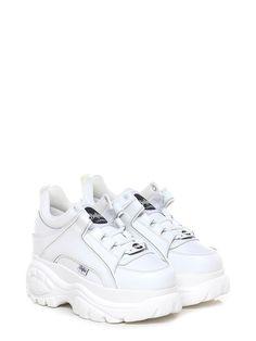 Sneaker in pelle con suola in gomma. tacco 75 e587e0a25c4