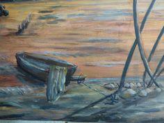 """""""Une histoire de poissons"""" - Détails, barque sur la plage"""