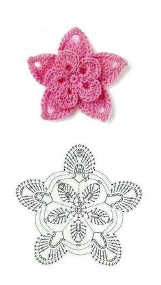cute #flower #crochet pattern, crochet 3D petal rose flower