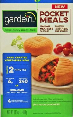 Gardein Pocket Meals - 9 New Vegan Products to Get Excited About - ChooseVeg.com