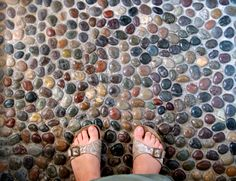 Love this Pebble shower floor