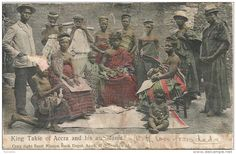 Gold Coast Ghana 1905 Victoriaborg Type 14 King Takie of Accra Post Card by Basel Mission RMS Nigeria