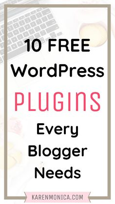 The top 10 Free Plugins For Wordpress. Plugins maintain the performance level of a site. Every self-hosted WordPress site need plugins to increase security Make Money Blogging, How To Make Money, Wordpress Website Design, Free Blog, Wordpress Plugins, Blog Design, Blogging For Beginners, How To Start A Blog, Career