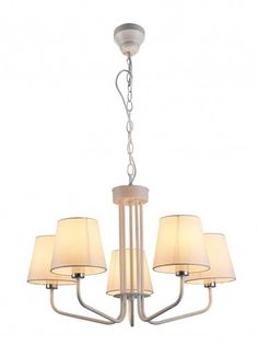 klasyczny, nowoczesny żyrandol 5 kloszy białych Chandelier, Ceiling Lights, Lighting, Home Decor, Homemade Home Decor, Decoration Home, Light Fixtures, Room Decor, Chandeliers