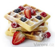 Belgium Waffles Fresh Berries Caster Sugar Stock Photo (Edit Now) 176306876 Belgium Waffles, French Crepes, Waffle Mix, Crepe Recipes, Brunch, Berries, Gastronomia, Ideas, Hessen