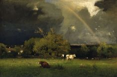 """George Inness (American, 1825 – 1894), """"The Rainbow,"""" about 1878-1879; Indianapolis Museum of Art, Gift of George E. Hume, 44.137"""
