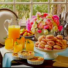 Southern-style tea party -- quiche and mini biscuit sandwiches