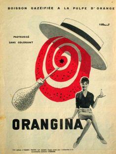 Premières affiches Orangina -  1935-1936  de R. Feuillie
