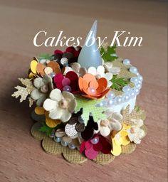 Autumn Floral Tea Light Cake (made by Kim) Cardboard Crafts, Paper Crafts, Diy Crafts, Autumn Crafts, Holiday Crafts, Tea Light Candles, Tea Lights, Tea Light Lanterns, Light Cakes