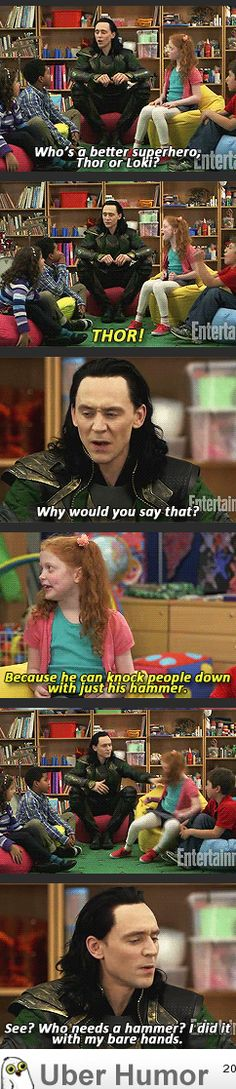 BAHAHAHA!! *dies of laughter* xDXD This is why Tom Hiddleston is so awesome! He did great with those kids!