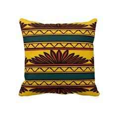 Decorative African Tribal Design Throw Pillow