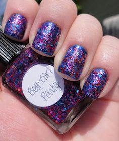 LASplash Blue Splash (bright cobalt blue) - 1 coat   Lynnderella Boy-Girl Party- 2 coats