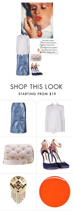 """""""Focus"""" by sue-mes ❤ liked on Polyvore featuring L'Autre Chose, Versace, Benedetta Bruzziches, Sophia Webster, Nouvel Heritage and RGB Cosmetics"""