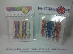 Altered clothes pins (many more ideas on blog)