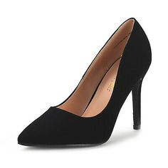 DREAM PAIRS CHRISTIAN-NEW Women's Classic Fashion Pointed Toe High Heel Dress Pumps New: This faux leather upper, pointed toe, scooped vamp, stiletto heel pointed pump are perfect for your casual or dressy look, and padded insole for all night comfort. Hot High Heels, Platform High Heels, High Heel Pumps, Womens High Heels, Pump Shoes, On Shoes, Stiletto Heels, Shoes Heels, Women's Pumps