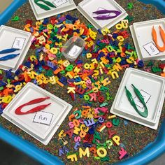 Tuff Tray, Early Reading, Literacy Stations, Phonics Activities, Cvc Words, Home Learning, Teacher, Letters, Infants