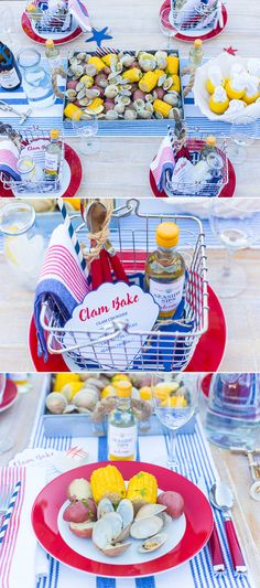 July 4th Clam Bake Party Table