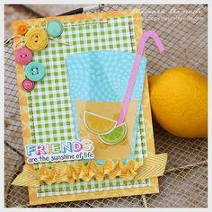 Carta Bella Cool Summer lemonade card - Designed by Tamara Tripodi