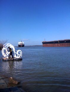 Bernard Williams, performance on the Mississippi River, New Orleans