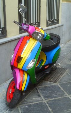 Image result for rainbow vespa