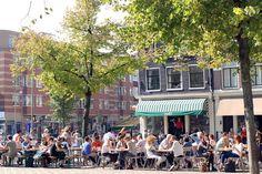 Outside Cafe Winkel in Amsterdam
