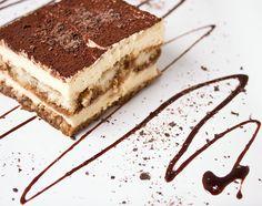"Tiramisu is an Italian dessert invented as present for the duke of Florence passing through Siena. Literally translated Tiramisu means ""pick me up"" or ""carry … Köstliche Desserts, Italian Desserts, Wedding Desserts, Delicious Desserts, Dessert Recipes, Dessert Food, Authentic Italian Tiramisu Recipe, Kahlua Recipes, Desserts Around The World"