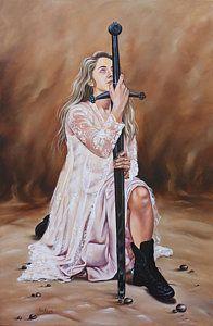 Jesus Christ Painting - Reforge The Sword by Ilse Kleyn