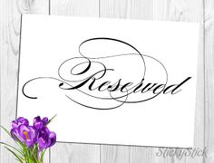 Reserved Sign for Your Wedding Reception Printable by StickyStick, $5.00