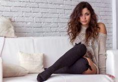 Beautiful Girl View Attractive Studio Sofa wallpaper