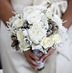 Grey Obsessed! Grey Wedding Bouquet!