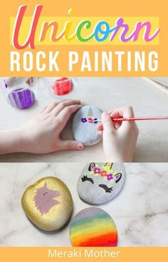 Running out of craft supplies? Try out these super cut unicorn rock painting craft for kids! #craftsforkids #unicorncrafts #craftsforgirls #funactivitiesforkids #forkids